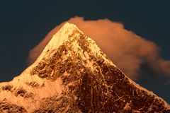 The Namjagbarwa peak Royalty Free Stock Images