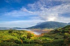 Namka湖早晨 免版税库存图片