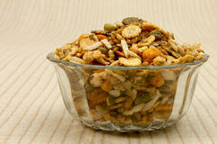 Namkeen mixture in glass bowl Stock Photography