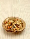 Namkeen in patta bowl Royalty Free Stock Photography