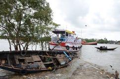 Namkhana-vissend Dorp van India stock afbeelding