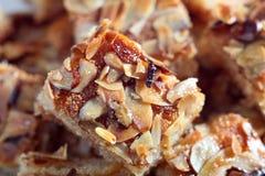 Nammora Lebanese semolina honey cake Royalty Free Stock Photos