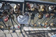 Namnet på låset Royaltyfria Foton