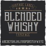 Namngiven blandad whisky för tappningetikett stilsort Royaltyfri Fotografi