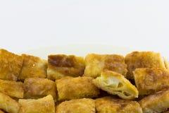 Namngiven frasig pannkaka - roti-, fr ied bröd med smör och ägget Arkivbild