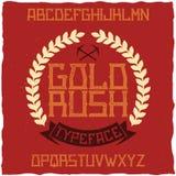 Namngiven guldrusch för tappningetikett stilsort Royaltyfria Bilder