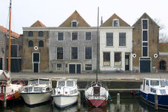 namngiven liten stad för brielle holländare Royaltyfri Bild