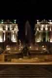 Namngiven Piazza för piazza Esedra della Repubblica. Royaltyfri Foto