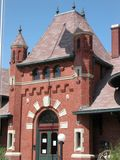 Nampa Train Depot - Idaho. The Nampa Train Depot has been an Idaho historical landmark since 1903 and currently serves as a museum royalty free stock photos