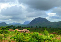 Nampevo Village on the nature. Africa, Mozambique. Stock Photography
