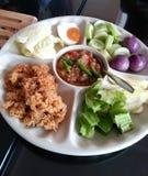 Namprik, het culturele Thaise voedsel van Spacial, Thailand Royalty-vrije Stock Fotografie