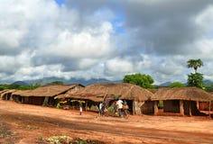 NAMPULA, MOZAMBIQUE - 7 DECEMBER 2008: De regeling. Nationaal Stock Foto's