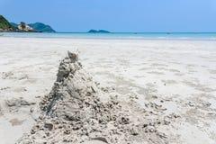 Namsai海滩看法在梭桃邑, Chon Buri,泰国 库存照片