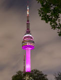 Namsan Tower in the nighttime. Seoul city Stock Photo