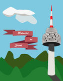 Namsan tower in Seoul Royalty Free Stock Images