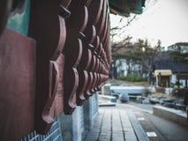Namsangol Hanok by i Seoul Sydkorea arkivfoto