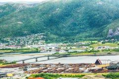 Namsos, Norwegen Stockfotografie