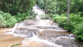 Namtok Pha Charoen Waterfalls Area Aerial View. Namtok Pha Charoen National Park is a national park in the Phop Phra District, Tak Province stock video footage