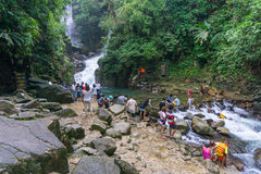 Namtok Phlio National park, the top waterfall in thailand Stock Image