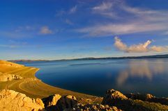 Namtso Lake. Morning view of Namtso Lake, Tibet Stock Image