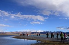 NAMTSO-LAKE Royaltyfria Foton