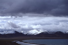 Namtso lake, cloud. It is Namtso lake, in the Tibet of China. The height above sea level is about 4700 m.All the mountains cover snow for full yeas.Weather Stock Photos