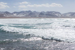 Namtso Lake frozen and wave Royalty Free Stock Photography