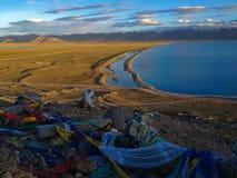 Namtso o il lago Nam Heavenly Lake è un lago della montagna sulla frontiera fra Damxung e la contea di Baingoin nella regione aut immagine stock libera da diritti