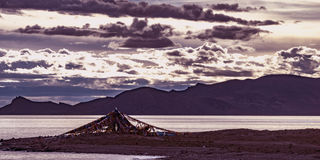 Namtso sjö, Tibet Arkivbild
