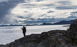 Namtso sjö, Tibet Royaltyfria Foton