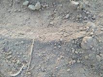 NAMUŁU iłu GLINIANA ziemia Z właściwościami glina, namuł, piasek I czarnoziemy, zdjęcie royalty free