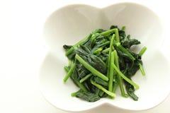 Namul degli spinaci Immagini Stock