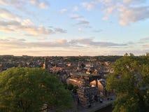 Namur al crepuscolo (il Belgio) Immagine Stock Libera da Diritti