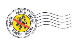 Namur, Belgium grunge postal stamp Stock Photography