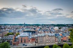 Namur skyline, Wallonia, Belgium. Stock Photos