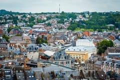 Namur skyline, Wallonia, Belgium. Royalty Free Stock Images