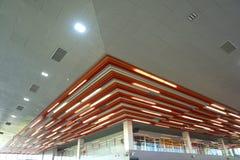 NAN DEN INTERNATIONELLA flygplatsen är det ett inomhus av flygplatsen i Nan Fotografering för Bildbyråer