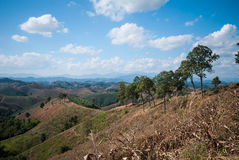 Nan góry krajobraz, Nan Tajlandia Zdjęcie Stock