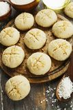 Nan Hathi.Indian traditional cookies. With coconut and semolina Royalty Free Stock Photos