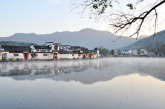 Nan lake in Hong Village. Hong Village located in southern anhui province, china.2014.12.2 Stock Photography