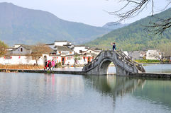 Nan lake in Hong Village. Hong Village located in southern anhui province, china.2014.12.2 Royalty Free Stock Images
