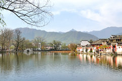 Nan lake in Hong Village. Hong Village located in southern anhui province, china.2014.12.2 Stock Image