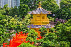 Nan Lian Garden, ésta es un parque público del gobierno, Kowloon Imagen de archivo libre de regalías