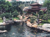 Nan Lian Garden Chi Lin Nunnery, Hong Kong fotografering för bildbyråer