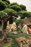 Garden of large stones in Hong Kong Stock Photos