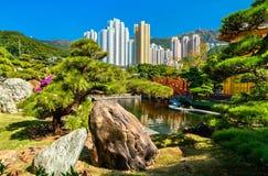Nan Lian Garden, a Chinese Classical Garden in Hong Kong Stock Photos