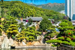 Nan Lian Garden, a Chinese Classical Garden in Hong Kong Royalty Free Stock Image