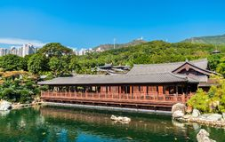 Nan Lian Garden, a Chinese Classical Garden in Hong Kong Stock Images