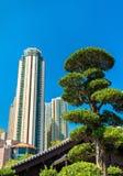 Nan Lian Garden en kinesisk klassisk trädgård i Hong Kong Royaltyfri Bild