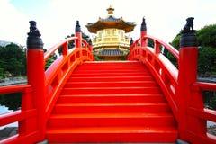 Nan Lian Garden, Hong Kon. Pavilion of Absolute Perfection in the Nan Lian Garden, Hong Kong Royalty Free Stock Images